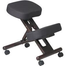 Work Smart Ergonomically Designed Wood Knee Chair - Espresso