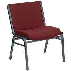 HERCULES Series Big & Tall 1000 lb. Rated Burgundy Fabric Stack Chair