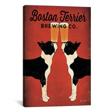 Boston Terrier Brewing Co. by Ryan Fowler Gallery Wrapped Canvas Artwork
