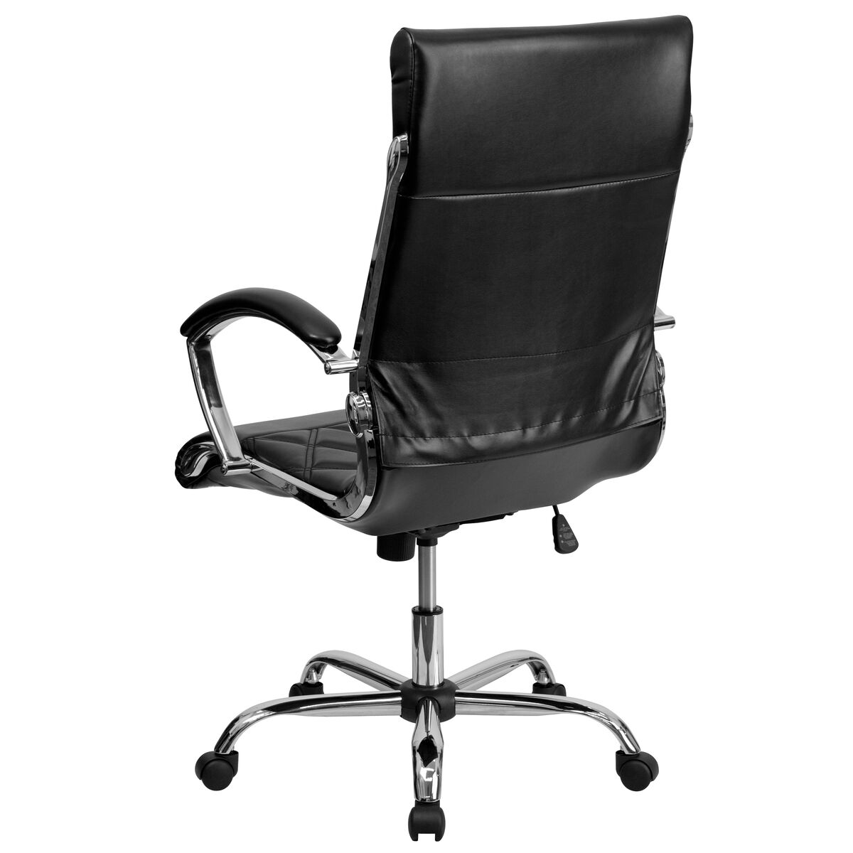 black high back leather chair go 1297h high bk gg