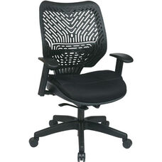 Space REVV Self Adjusting SpaceFlex Back and Mesh Seat Managers Chair with Adjustable Arms - Raven Back and Raven Seat