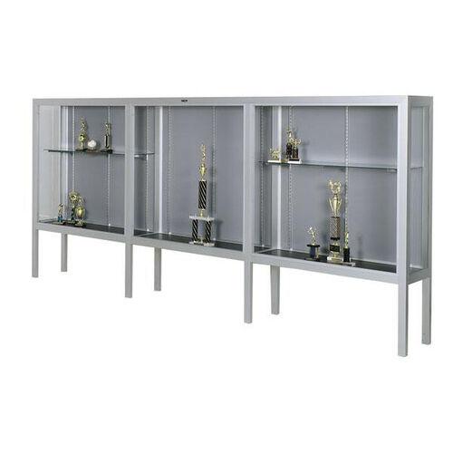Our Premiere Series Freestanding 3 Door Display Case with Aluminum Legs - 144