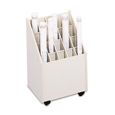 Safco® Laminate Mobile Roll Files - 20 Compartments - 15-1/4w x 13-1/4d x 23-1/4h - Putty