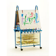 Double Sided Art Easel with Built-In Drying Racks