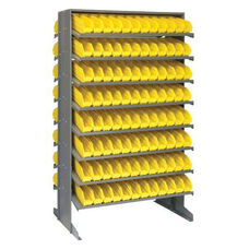 Sloped Shelving Double Sided Pick Rack Unit with 192 Bins - Yellow