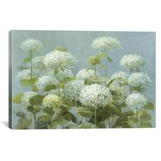 White Hydrangea Garden by Danhui Nai Gallery Wrapped Canvas Artwork