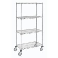 Wire Shelf Stem Caster Truck W/ Polyurethane Wheels - 24