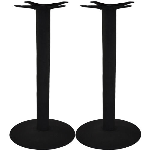 Set of 2 - Advantage 17-in. Round Bar Height Bar & Restaurant Table Bases