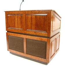 Ambassador Wired 150 Watt Sound Multimedia Lectern - Cherry Finish - 30