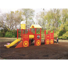Galvanized Steel Tube Constructed Tot Town Express Play Center with Thermoplastic Coated Punch Steel Decks - 120