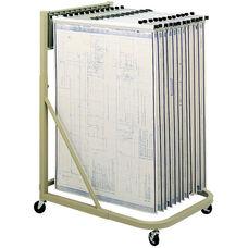 Mobile Document Storage Stand with Twelve Pivot Brackets - Tropic Sand