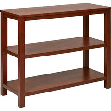 Ave Six Merge Foyer Table with Shelves and Solid Wood Legs - Cherry