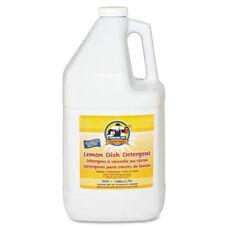 Genuine Joe Dishwashing Liquid - 1 Gallon - Lemon Scent