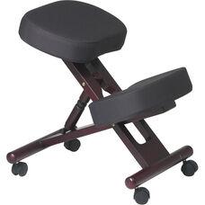 Work Smart Ergonomically Designed Wood Knee Chair - Mahogany