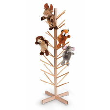 Puppet Tree with Thirty Two Puppet Storage Branches in Maple