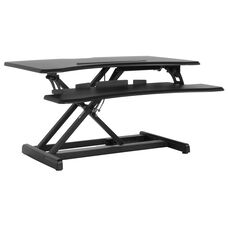 """HERCULES Series 30.25""""W Black Sit / Stand Height Adjustable Ergonomic Desk with Height Lock Feature"""
