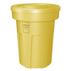 45 Gallon Cobra Food Grade/General Use Trash Can - Yellow