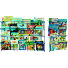 Premium Classroom/Library Book Displayer Kit with Two Small Book Storage Units and One Large Book Storage Unit