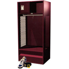 Pro Series Open Front Powder Coated Steel Locker with Security Box and Foot Locker