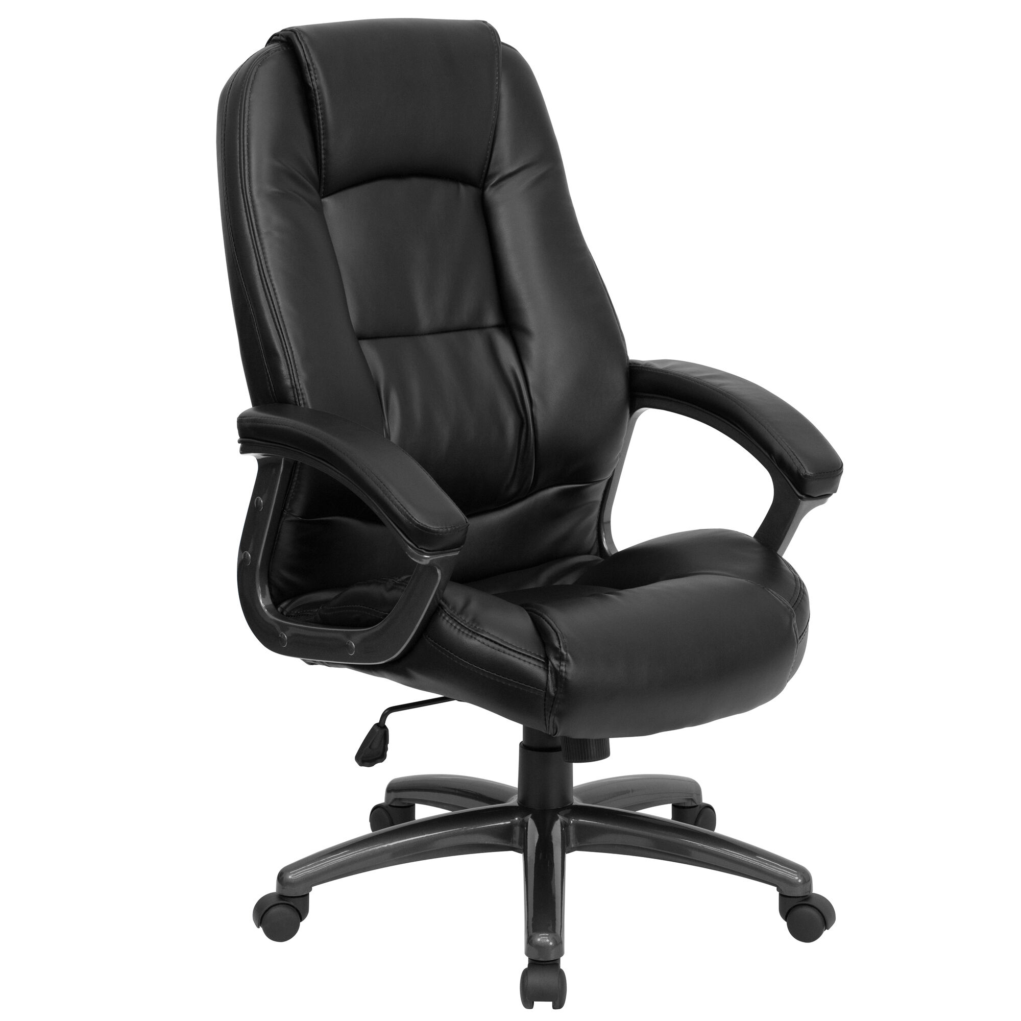 Images our high back black leather executive swivel ergonomic office chair