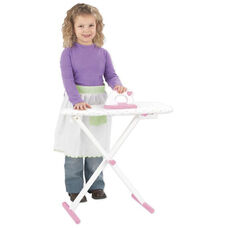 Kids Wooden Make-Believe Tiffany Bow Ironing Board Play Set -White