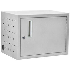 Chromebook and Netbook Charging Cabinet with Lockable Doors - Charges Up to 12 Devices - 13