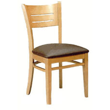 4545 Armless Side Chair with Wood Back - Grade 1