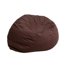 Small Solid Brown Kids Bean Bag Chair