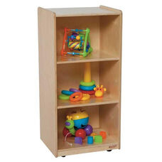 Mobile Mini Bookshelf with Three Shelves and Easy Mobility Casters - Assembled - 18