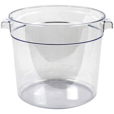 6 Quart Round Food Storage Container in Clear Polycarbonate