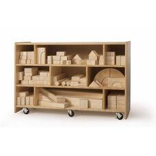 "Medium Block Storage Cart in Birch Plywood - 38""W x 14""D x 25""H"