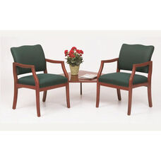 Franklin Series Guest Chairs with Connecting Corner Table