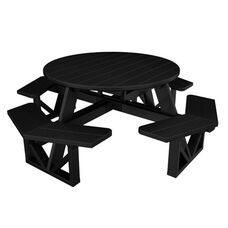 POLYWOOD® Commercial Collection Park Octagon Table - Black