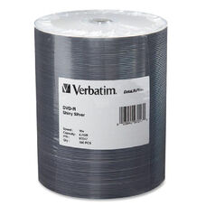 Verbatim 4.7Gb 16X Datalifeplus Silver Dvd-Rs - Pack Of 100