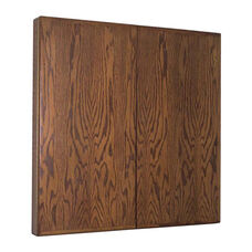 Contemporary Walnut Conference Cabinet with Projection Screen - 48