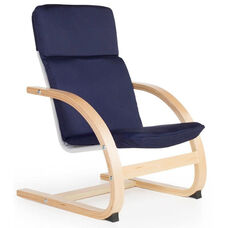 Nordic Rocker with Removable Cushion and Steam-Bent Plywood Construction - Blue - 20