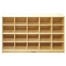 Birch 20 Cubby Tray Cabinet with 12