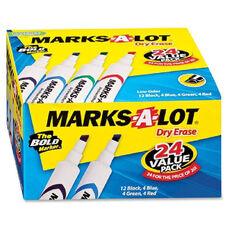 Avery Marks-A-Lot Dry-Erase Markers Bonus Pack - Pack Of 24