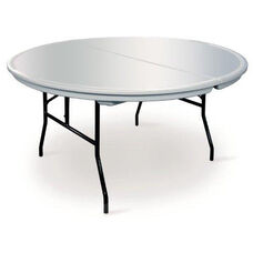Commercialite Round Polyethylene Folding Table with Locking Legs - 72''Diameter