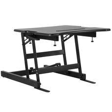 """HERCULES Series 22""""W Black Sit / Stand Height Adjustable Ergonomic Desk with Height Lock Feature"""