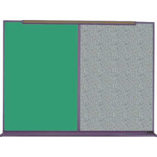 800 Series Aluminum Frame Combination Chalkboard and Tackboard - Claridge Cork - 96