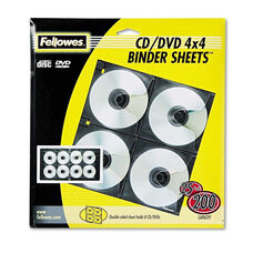 Fellowes® Two-Sided CD/DVD Refill Sheets for Three-Ring Binder - 25/Pack