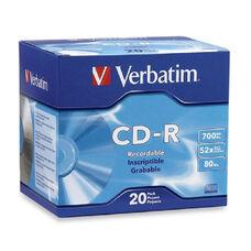 Verbatim 700Mb Branded 52X Slim Case Cd-R - Pack Of 20