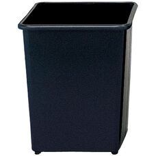 31 Qt Puncture Resistant Heavy Steel Square Wastebasket - Set of Three - Black