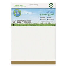 Bi-Silque Self -Stick Easel Pad -Plain -25