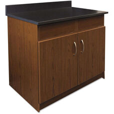 Alera Plus™ Hospitality Base Cherry Laminate Cabinet with 2 Flipper Doors - 36