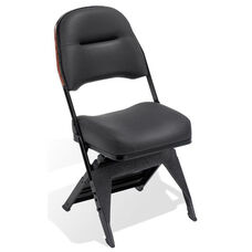 Club Series Upholstered Seat and Back Folding Chair with Leg Covers