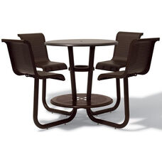 Portage Bar Height Table with Attached Chairs - 42