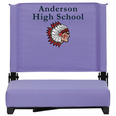 Embroidered Grandstand Comfort Seats by Flash with Ultra-Padded Seat in Purple