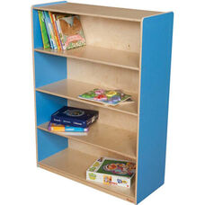 Wooden 4 Fixed Shelf Bookcase with Plywood Back - Blueberry - 36